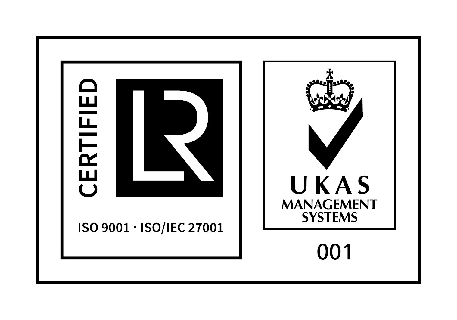 OmPrompt | Certification: ISO 9001 - ISO/IEC 27001 - UKAS Management Systems 001